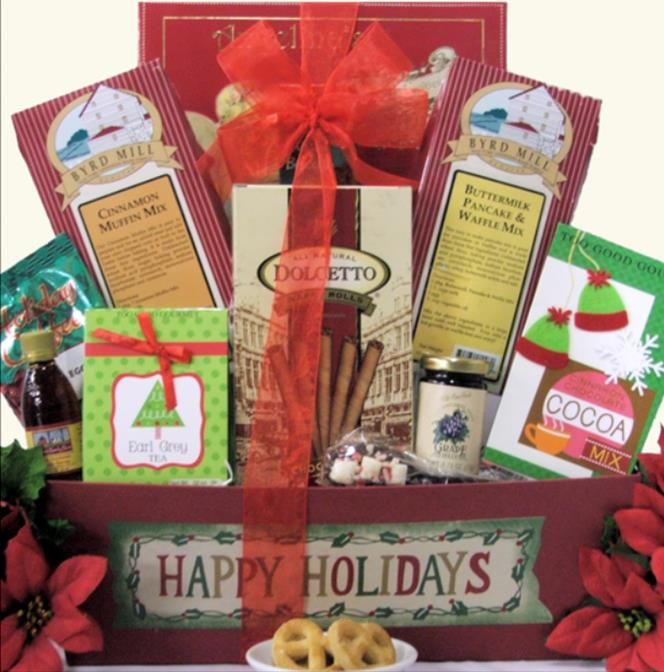 Even before the first presents are opened, planning the perfect holiday breakfast starts with our Christmas Morning Wishes Breakfast Christmas Gift Basket. This thoughtful gift includes everything needed to make breakfast a memorable occasion! $69.99  http://www.littlegiftbasketboutique.com/item_947/Christmas-Morning-Wishes-Breakfast-Holiday-Christmas-Gift-Basket.htm