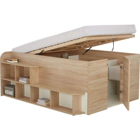 Praktisches Bett mit Stauraum dieses Bett kann mehr