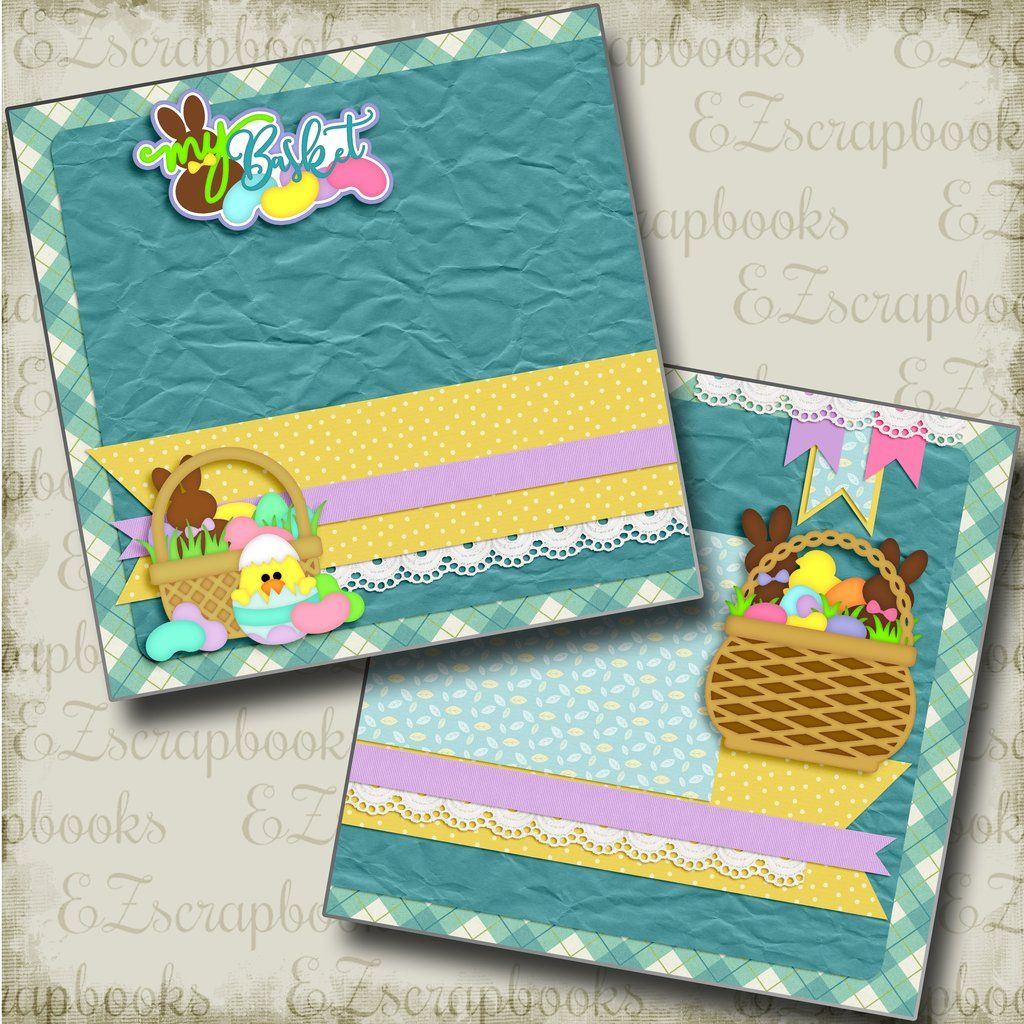2 Premade Scrapbook Pages EZ Layout 2921 AT THE CIRCUS