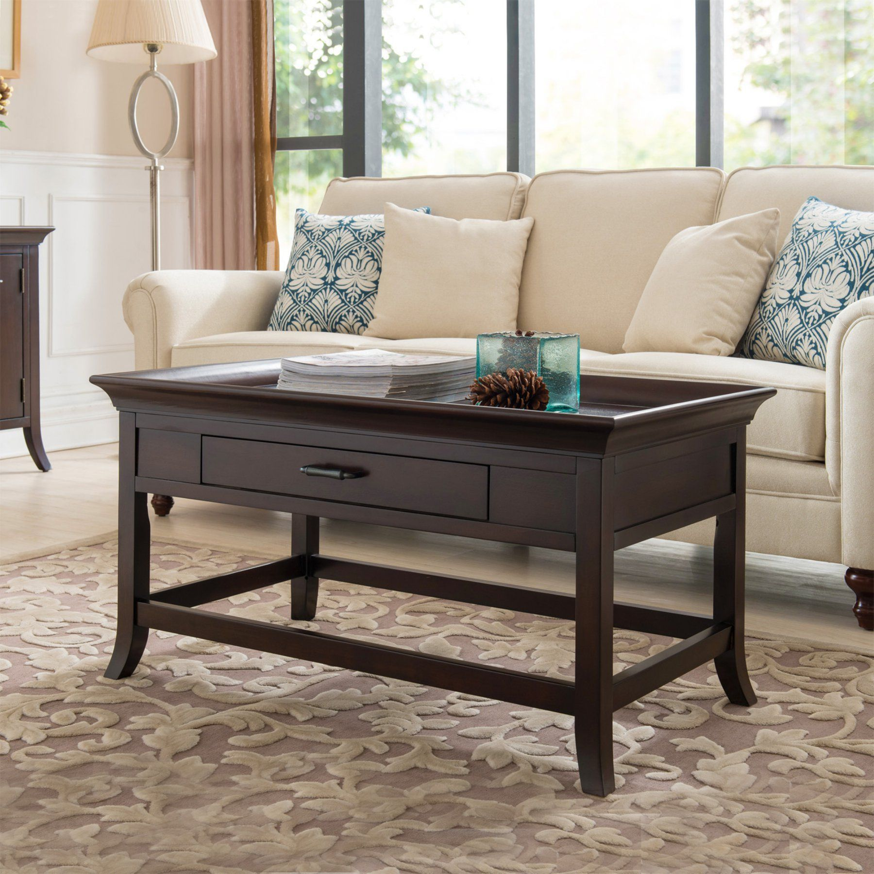 Magnificent Leick Furniture Tray Edge Coffee Table 10128 Products Forskolin Free Trial Chair Design Images Forskolin Free Trialorg