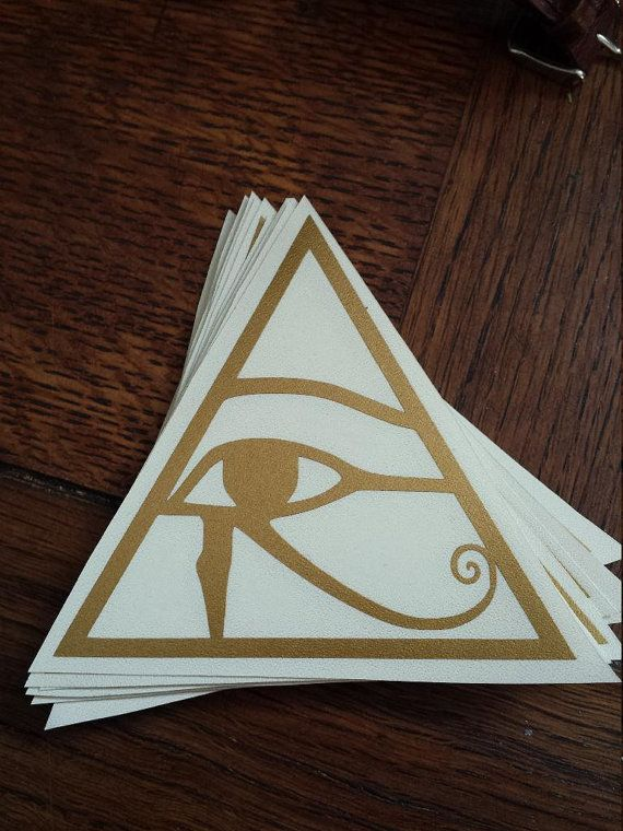 eye of horus egyptian sticker symbolism decal gold pyramid handmade human made bronze window wall car truck skateboard laptop