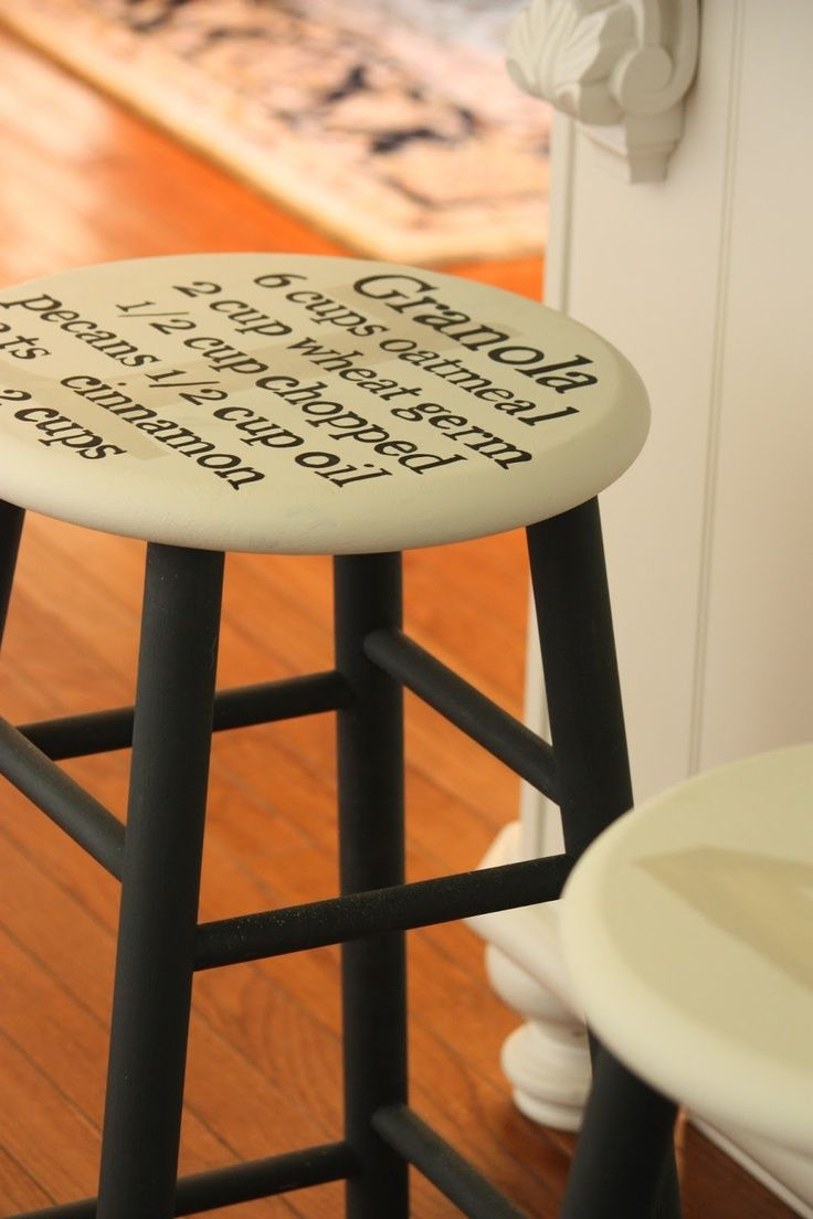 Bar Stool Painting Ideas Painting A Recipe On A Bar Stool Home