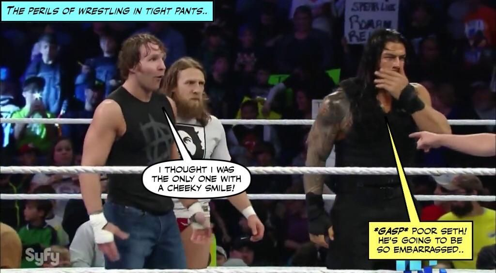 Seth's body isn't the only thing that's ripped..credit JenJ@forever_ambrose