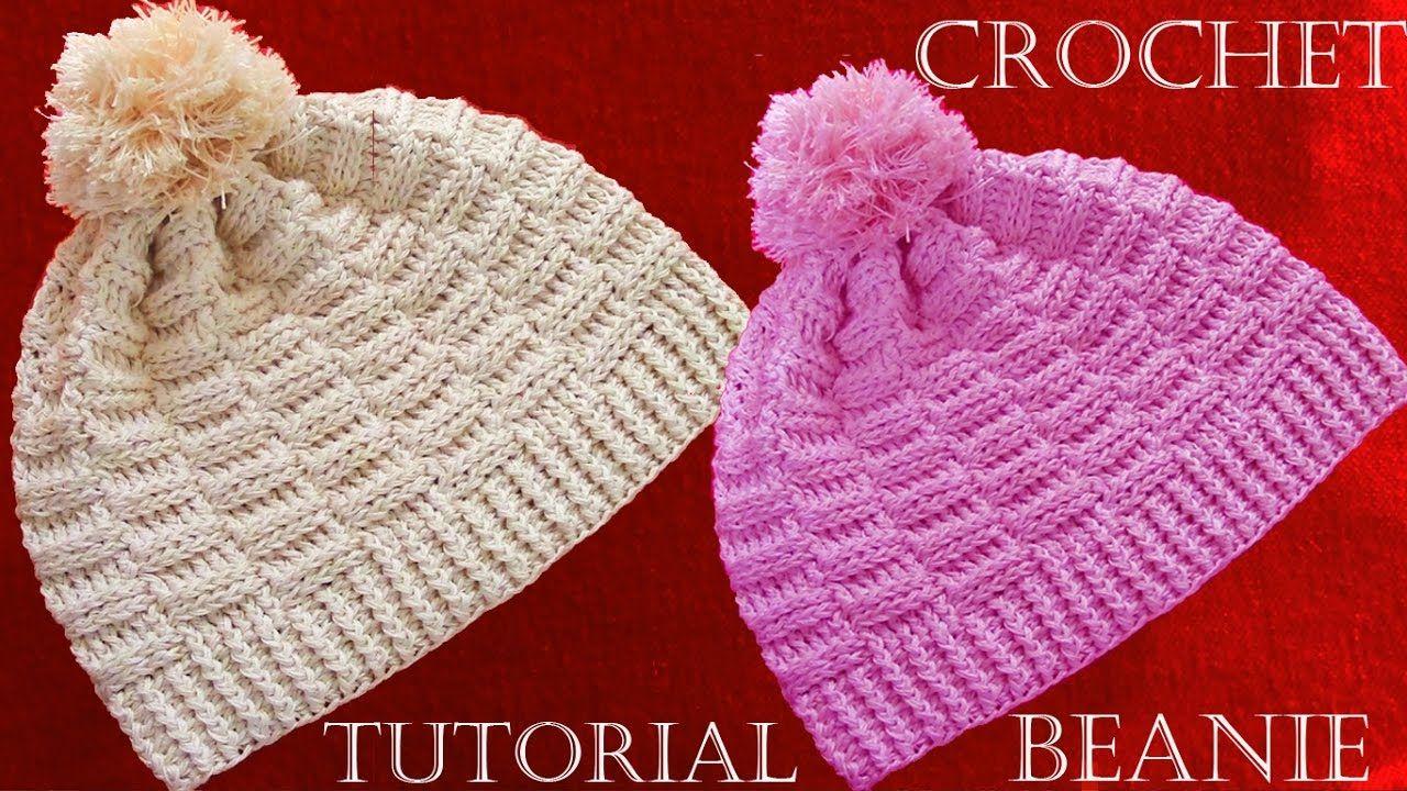 Como hacer gorros a Crochet - Crochet Beanie Tutorial | Tejido a ...