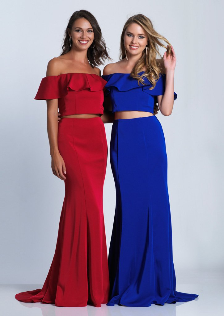 8b00a0dcbd20 DJ 3416 - Two-Piece Ruffle Off the Shoulder Jersey Mermaid with ...
