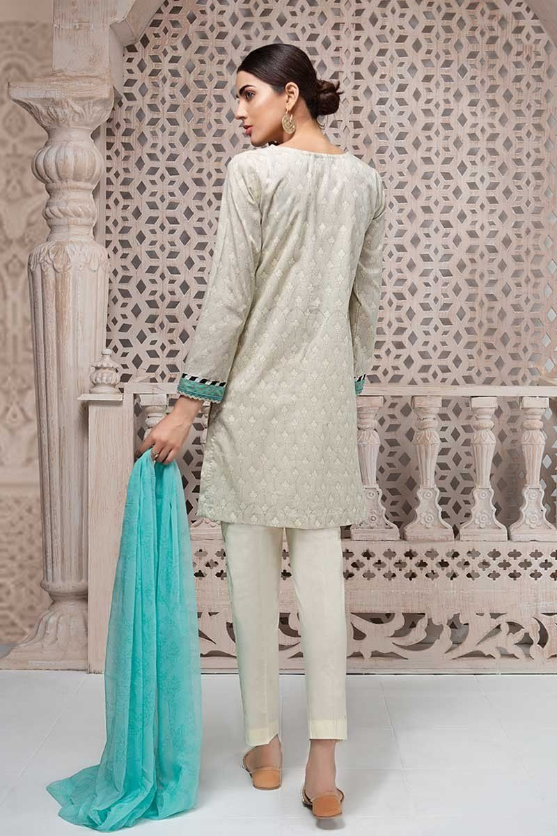 7b00dfc62d Laced and embrodiered off white dress in lawn by Maria B ready to wear eid  dresses #springcollection #spring #readytowear #pretwear #unstitched #online  ...