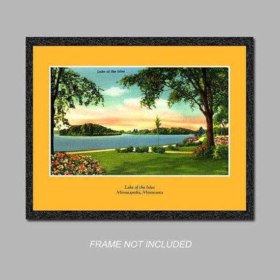 Postcard Wall Art - Lake of the Isles - Minneapolis, Minnesota ...