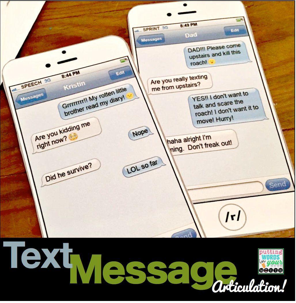 Articulation Text Messages