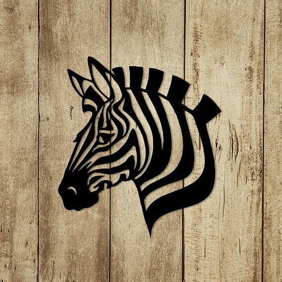 Metal Wall Art Zebra head Animal steel Home Decor interior Sign ...