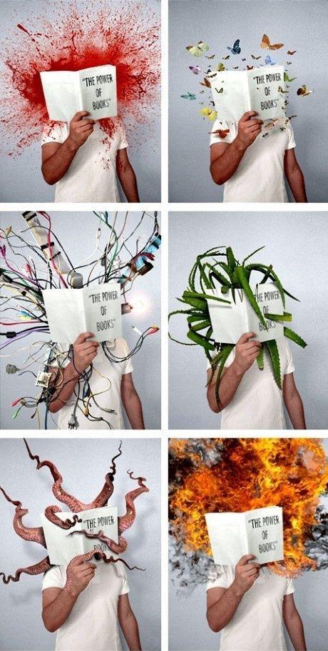 The Power Of Books Sjovt Billede Konstnarer Illustration Boknord