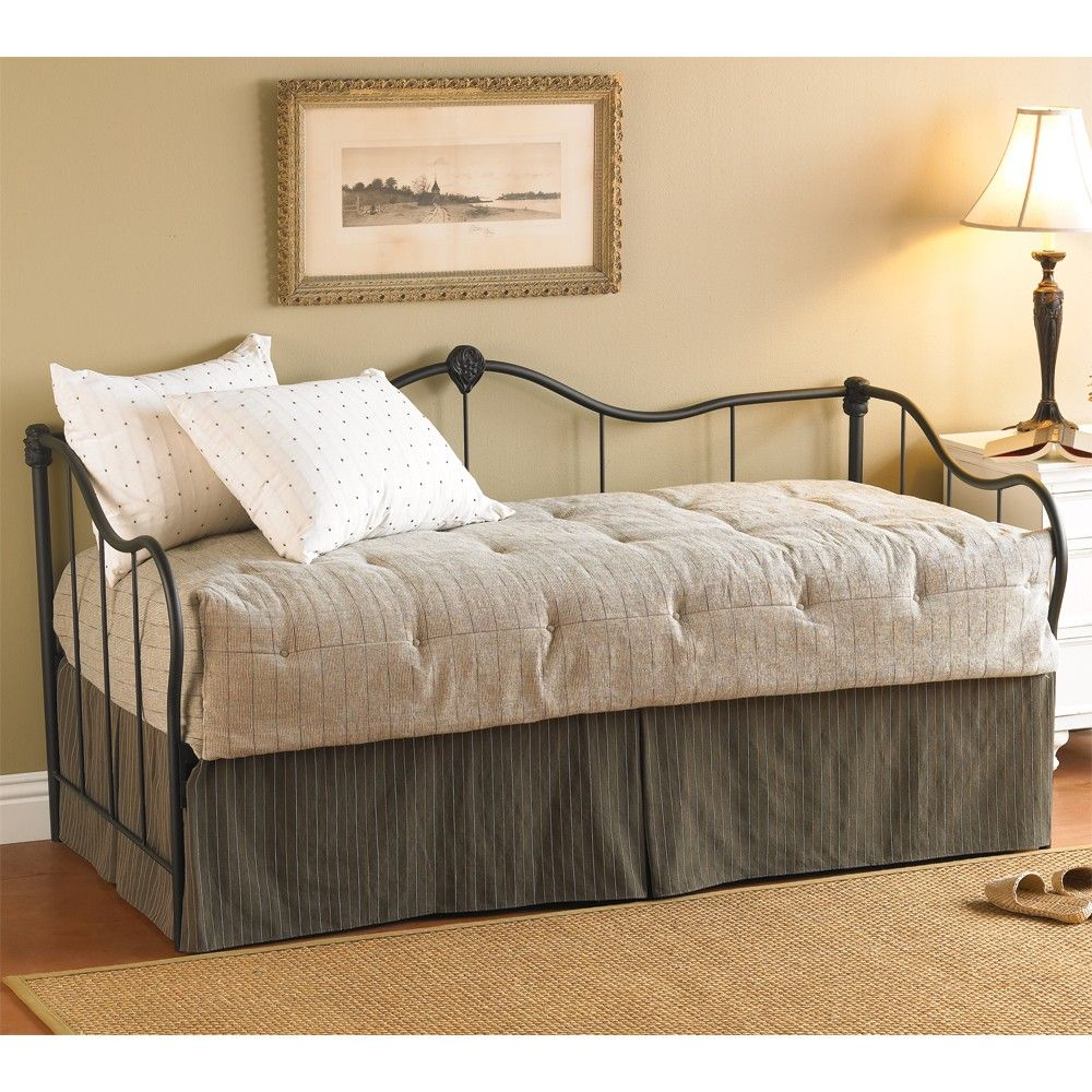 Ambiance Iron Daybed by Wesley Allen Matte Black Finish