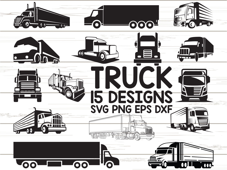 Semi Truck Svg Clipart Cut Files Cricut Silhouette Vector
