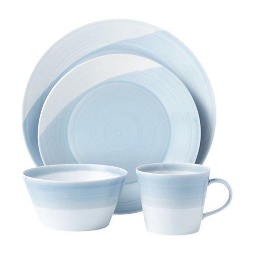 1815 16 Piece Dinnerware Set Service For 4 Blue Dinnerware Dinnerware Set Royal Doulton