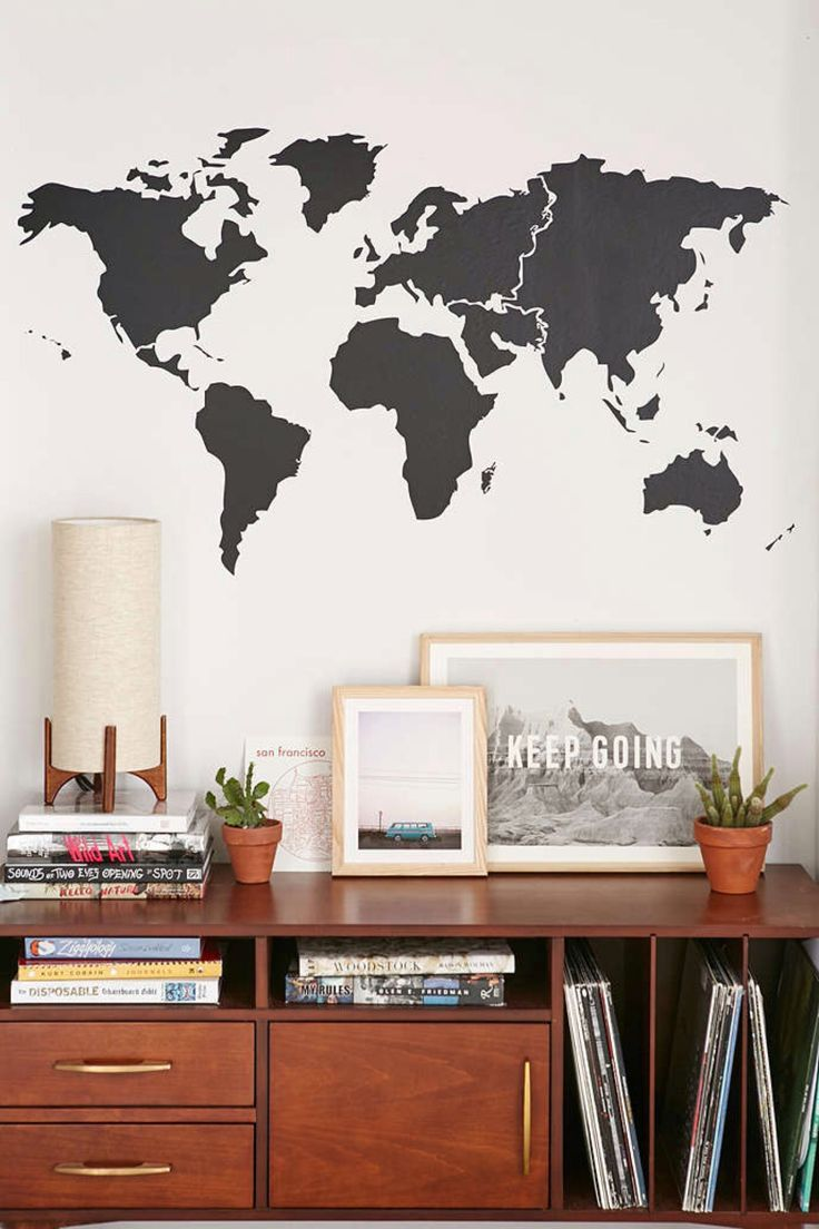 World Map Bedroom Decor