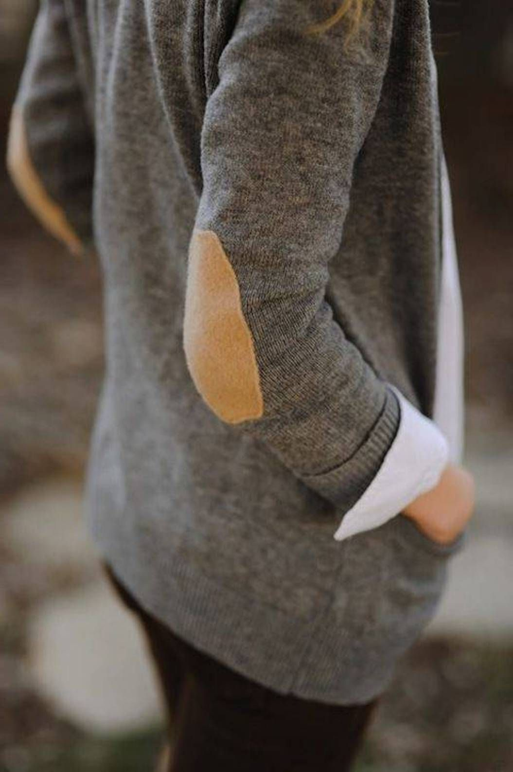 Cashmere sweater with elbow patch wear pinterest