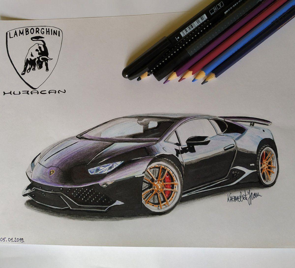 Lamborghini Huracan Urkec Knezevic Draw To Drive Car Drawings Automotive Illustration Lamborghini Huracan