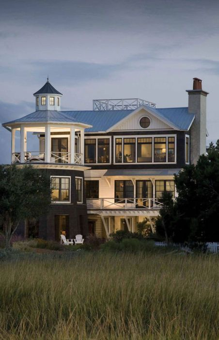A Cocktail In Her Hand And Confetti In Her Hair He Is Happiest Be He King O Seaside House Beautiful Homes Architecture