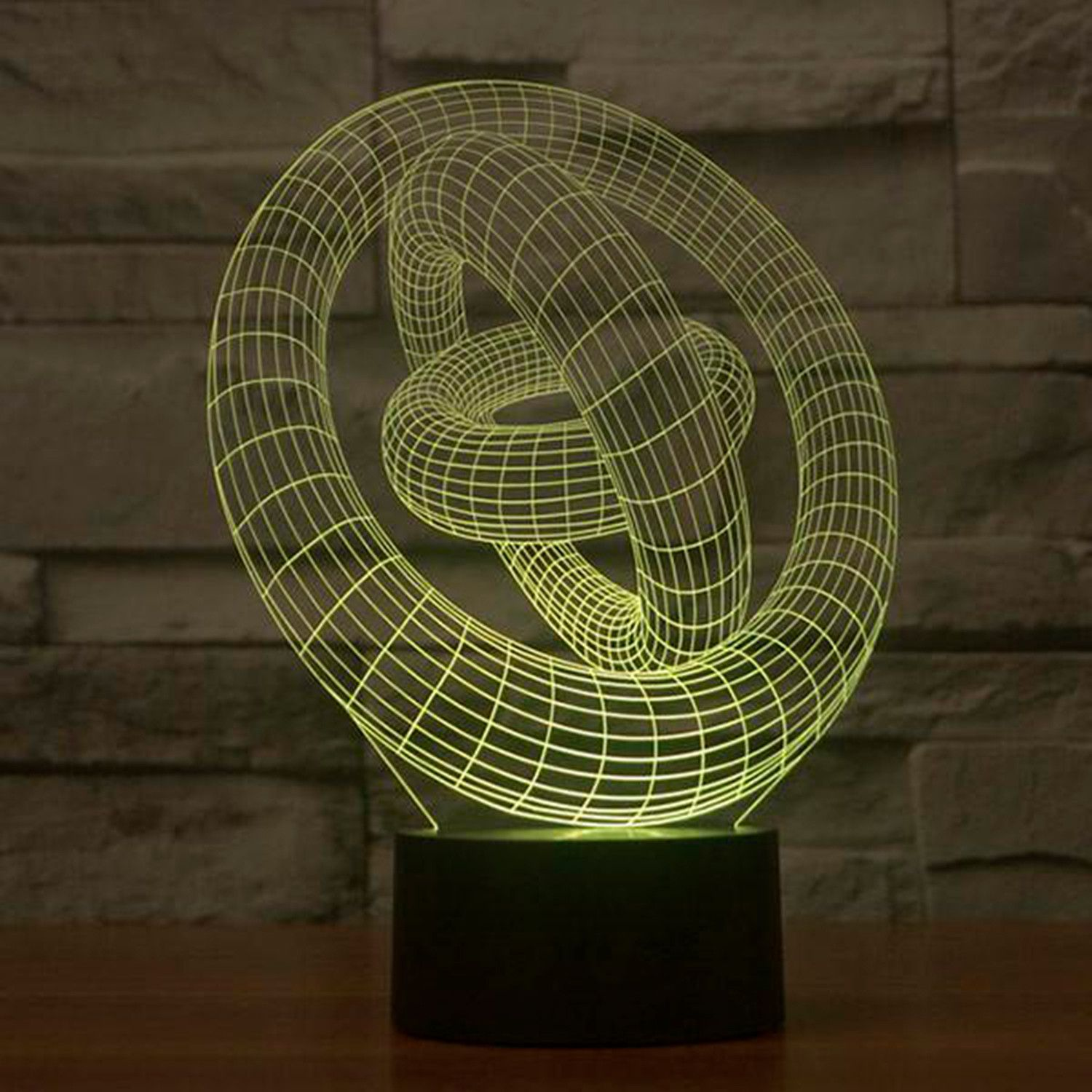 3d Lamp Rings Decor Statement Premium Light 3d Led Lamp Lamp Design 3d Lamp
