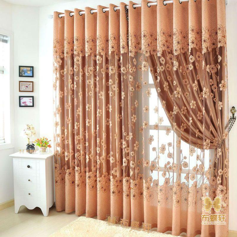 2016 nova top floral em relevo cortinas cortinas para sala for Cortinas para sala 2016