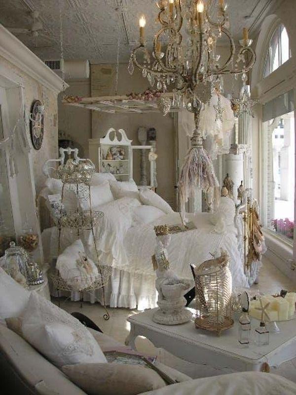 Schlafzimmer Design Shabby Chic Einrichtungsstil Weiß Vintage