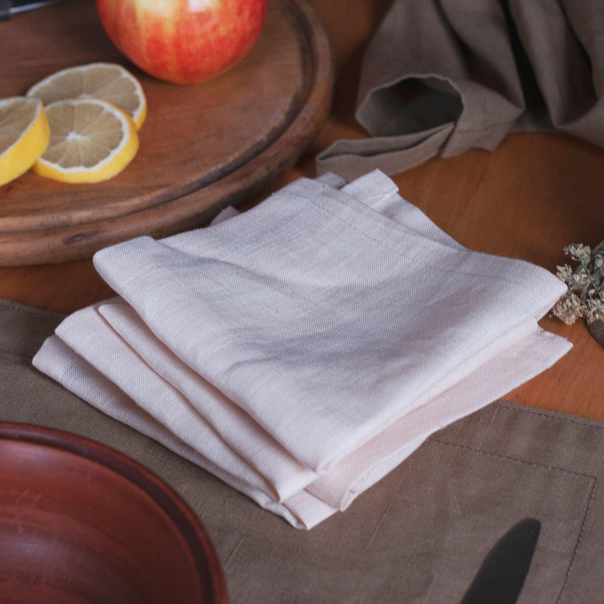 Kitchen linen napkins Dinner table cloth napkin set Rustic wedding napkins bulk Cocktail napkin #clothnapkins
