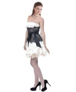 Cute under $100 black and white short lace prom dresses, Caroline ...