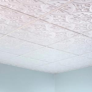 Fasade Traditional 2 2 Ft X 2 Ft Lay In Ceiling Tile In Bermuda Bronze L52 17 At The Home Depot Mobile Ceiling Grid Ceiling Tile Tin Ceiling