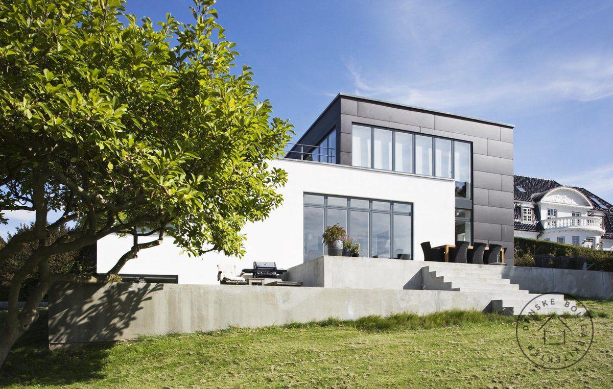 Villa rstiderne arkitekter arkitekt ombygning tilbygning for Facade villa moderne