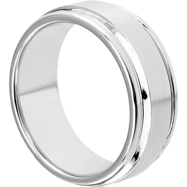 Syros Brushed Mens Chrome Cobalt Rings Cobalt Chrome and Ring