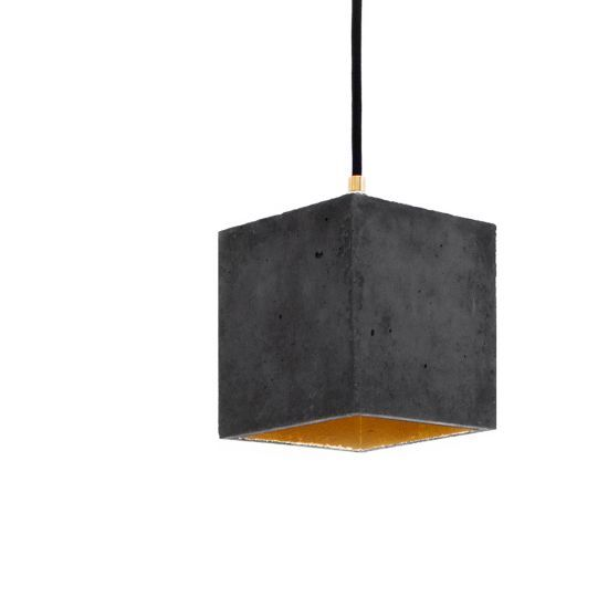 Dark grey gold naken interiors hanging lightsdesigner
