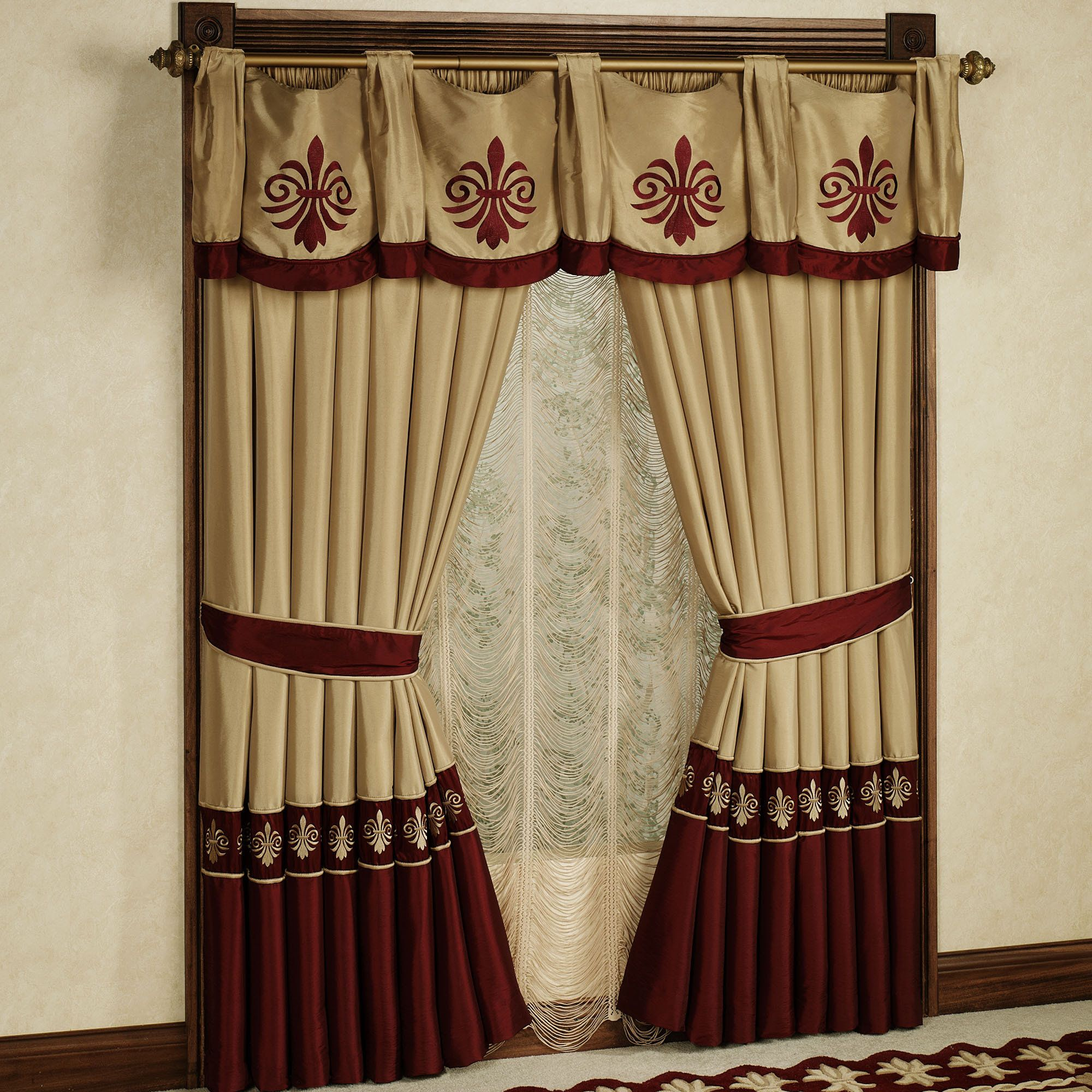 saving panels valance romantic valances zoom buy burgundy two curtains loading printed floral p energy