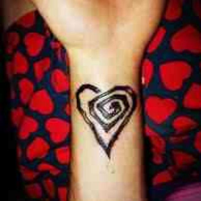 Marilyn Manson Heart Tattoo: Twisted Heart Tattoo