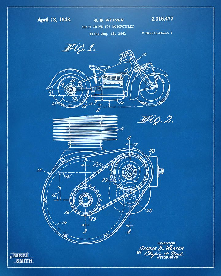 1941 indian motorcycle patent artwork blueprint drawing zib men 1941 indian motorcycle patent artwork blueprint drawing malvernweather Images