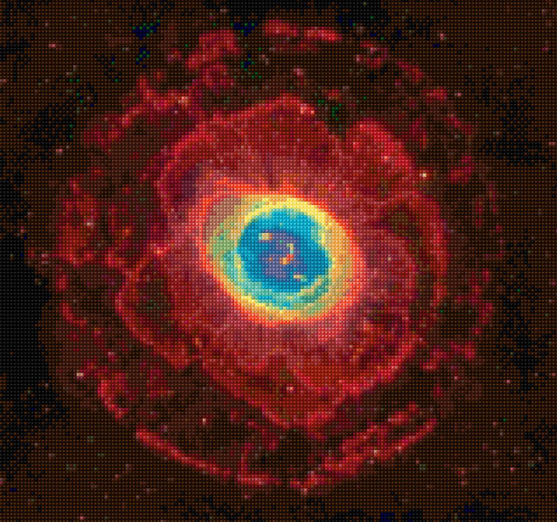 Ring Nebula M57 Hubble Telescope Cross Stitch pattern PDF ...