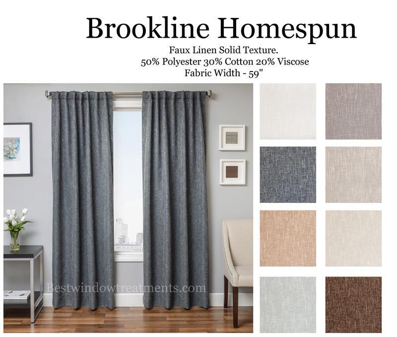 Brookline Homespun Linen Ready Made Ds With Options For Lining Interlining Or Blackout