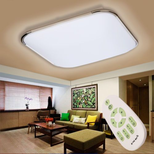 30w dimmable led ceiling light flush mount lamp bedroom kitchen lighting remote