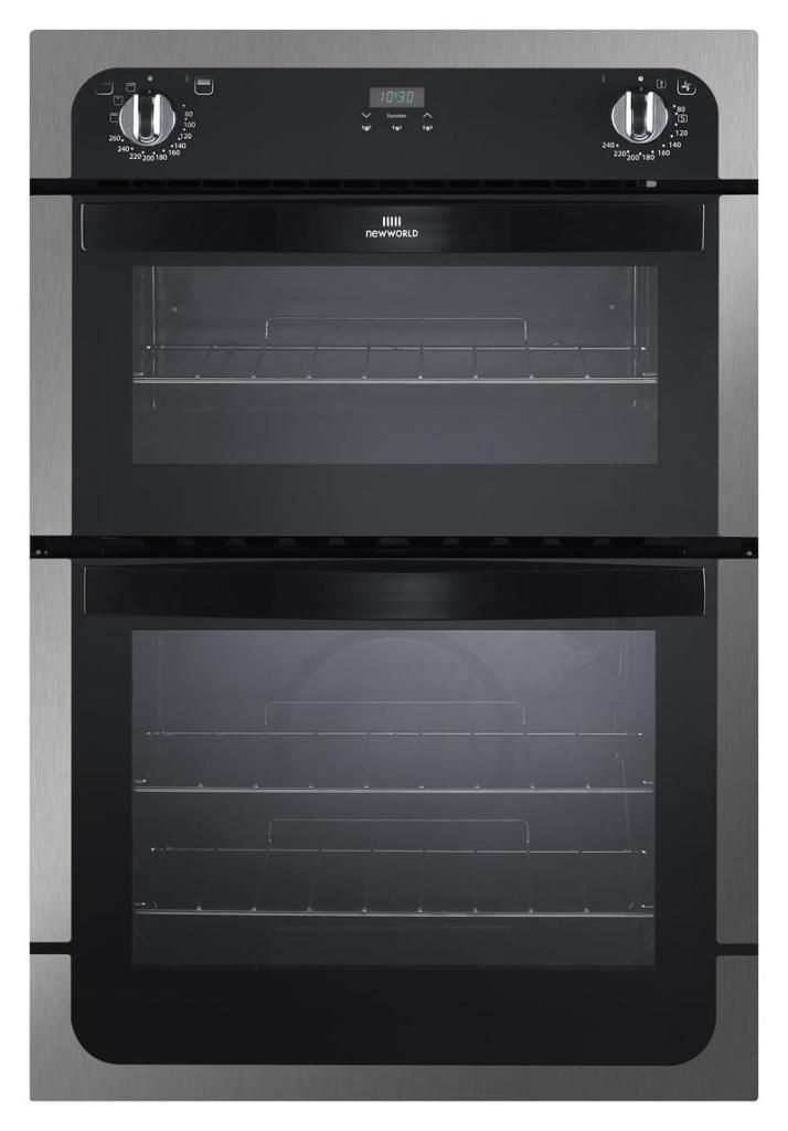 New World NW901DOP Built In Double Electric Oven Stainless Steel GRADED
