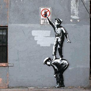 Banksy's Graffiti, Animated | Street art banksy, Street art graffiti,  Banksy art