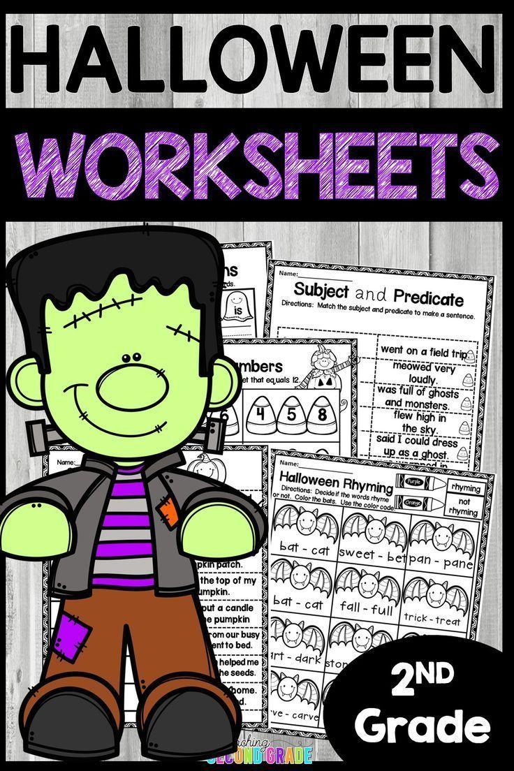 Halloween Worksheets * Halloween & October Reading