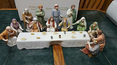 The Lords Supper Home Interiors Homco Complete Figurine Set