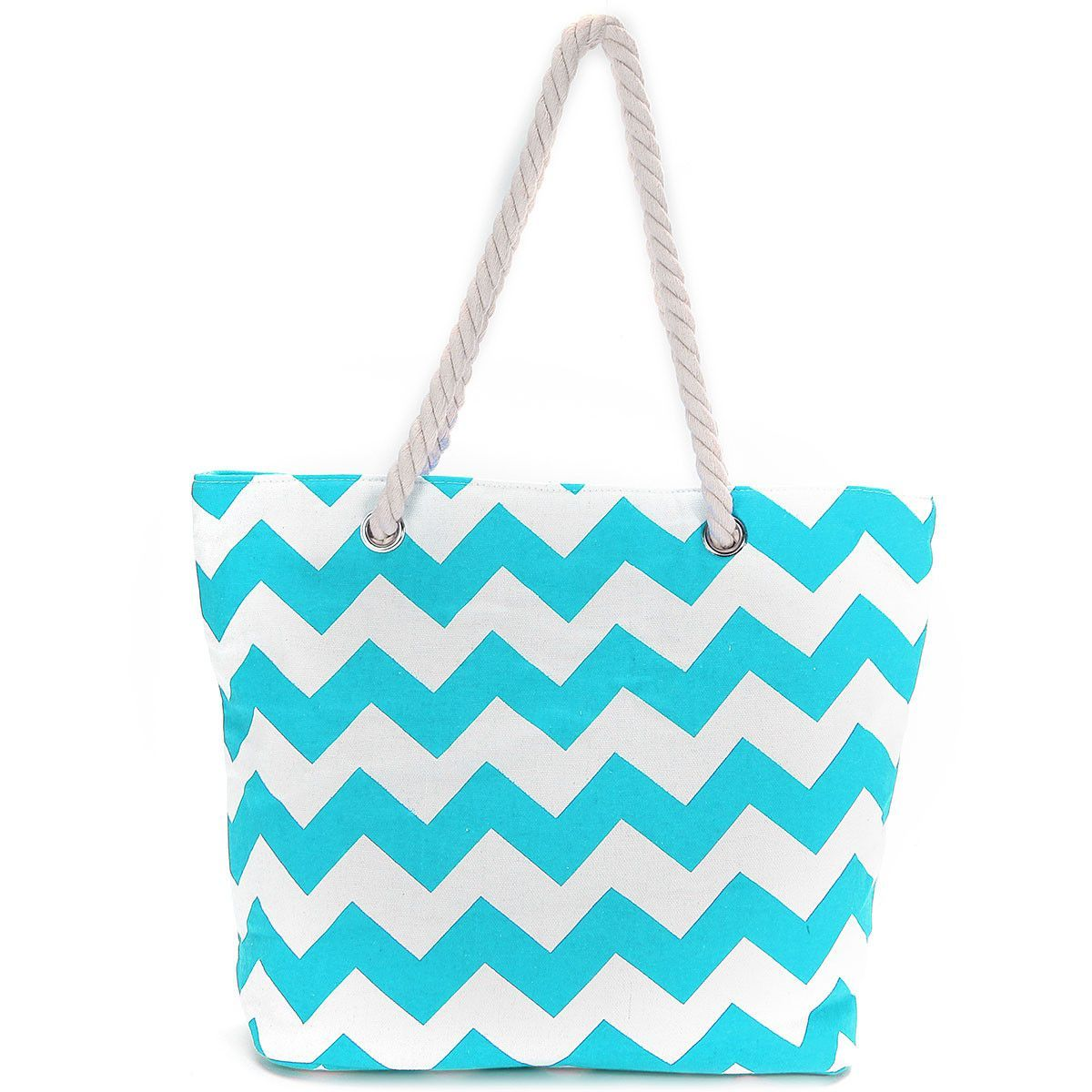 Summer Beach Holiday Women striped Canvas Wave Shoulder Bags ...