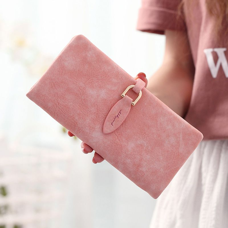 Retro matte Clutch Purses lady long wallet Women Wallets fashion Female  leather Coin Purses Card Holders 57bf5f869cd93