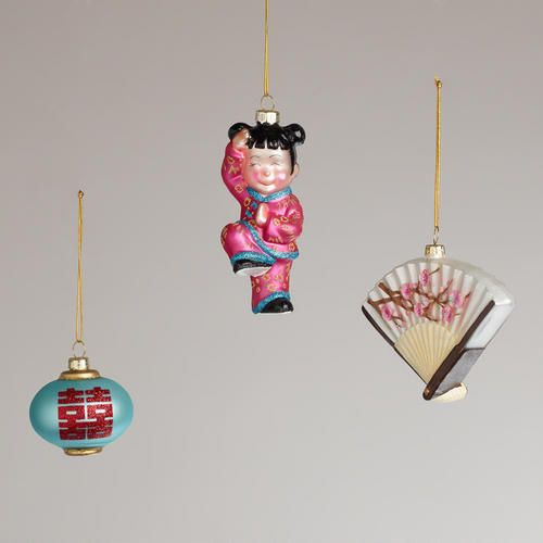 Christmas Decorations To Buy In China: China Glass Ornaments (set Of 3) From World Market