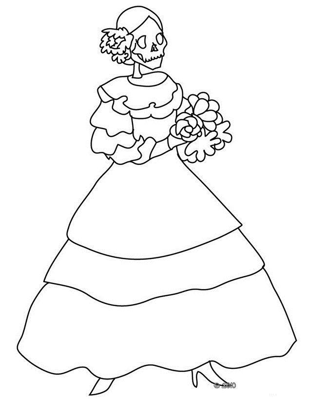 Dibujos para colorear del dia de los muertos | Dibujos de día de ...