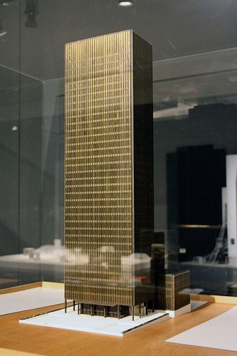 Model Of Seagram Building New York By Ludwig Mies Van Der Rohe
