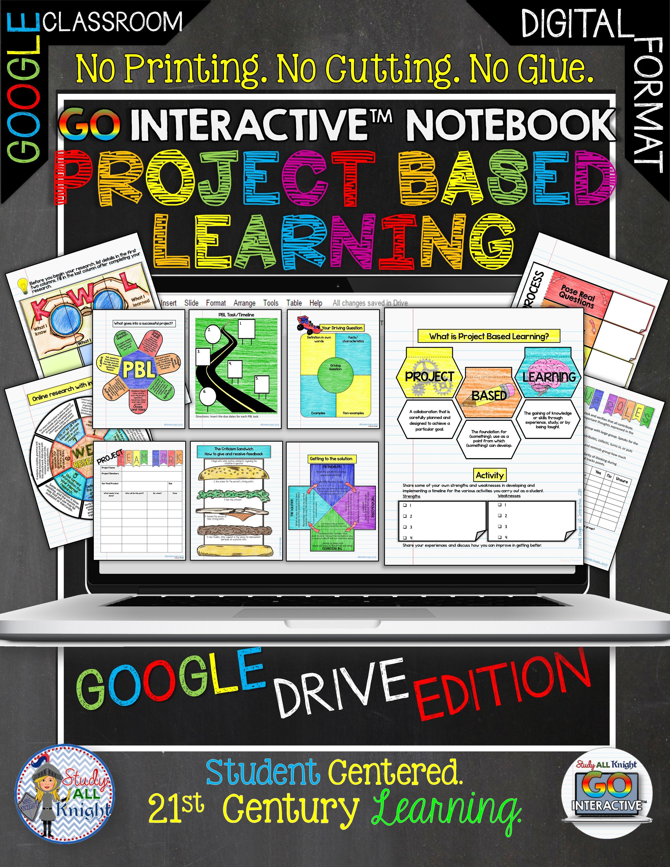 GO Interactive Notebook Project Based Learning Google Edition