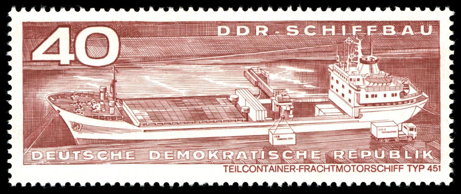 Briefmarken 1971 der Deutschen Post der DDR Schiffbau