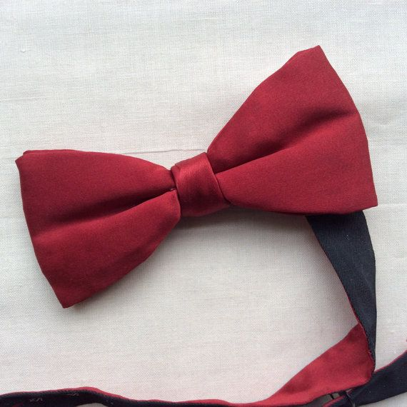 Red with Black Back Bow Tie