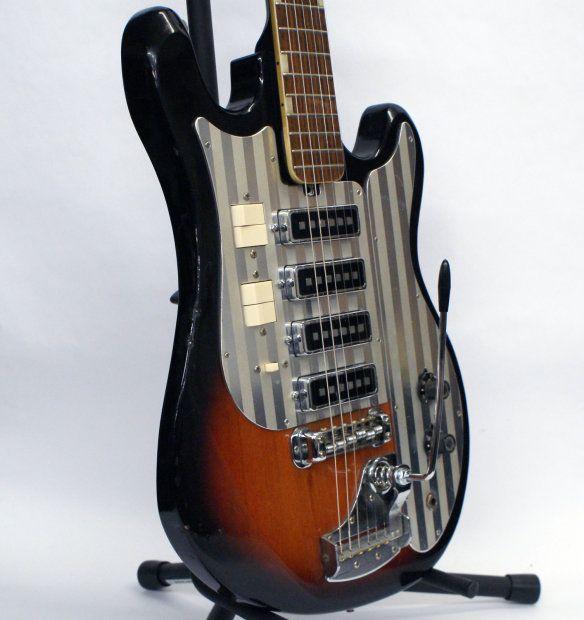 rare vintage 1965 4 pickup silvertone 1437 electric guitar guitars guitar vintage guitars. Black Bedroom Furniture Sets. Home Design Ideas