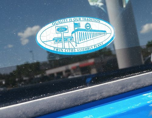 Twin Cities Assembly Plant Ford Decal